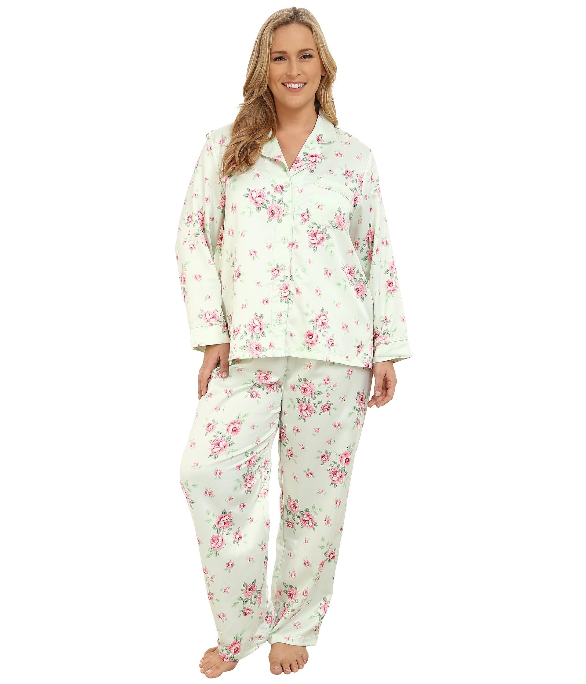 Lyst Carole Hochman Plus Size Packaged Brush Back Satin Pajama in