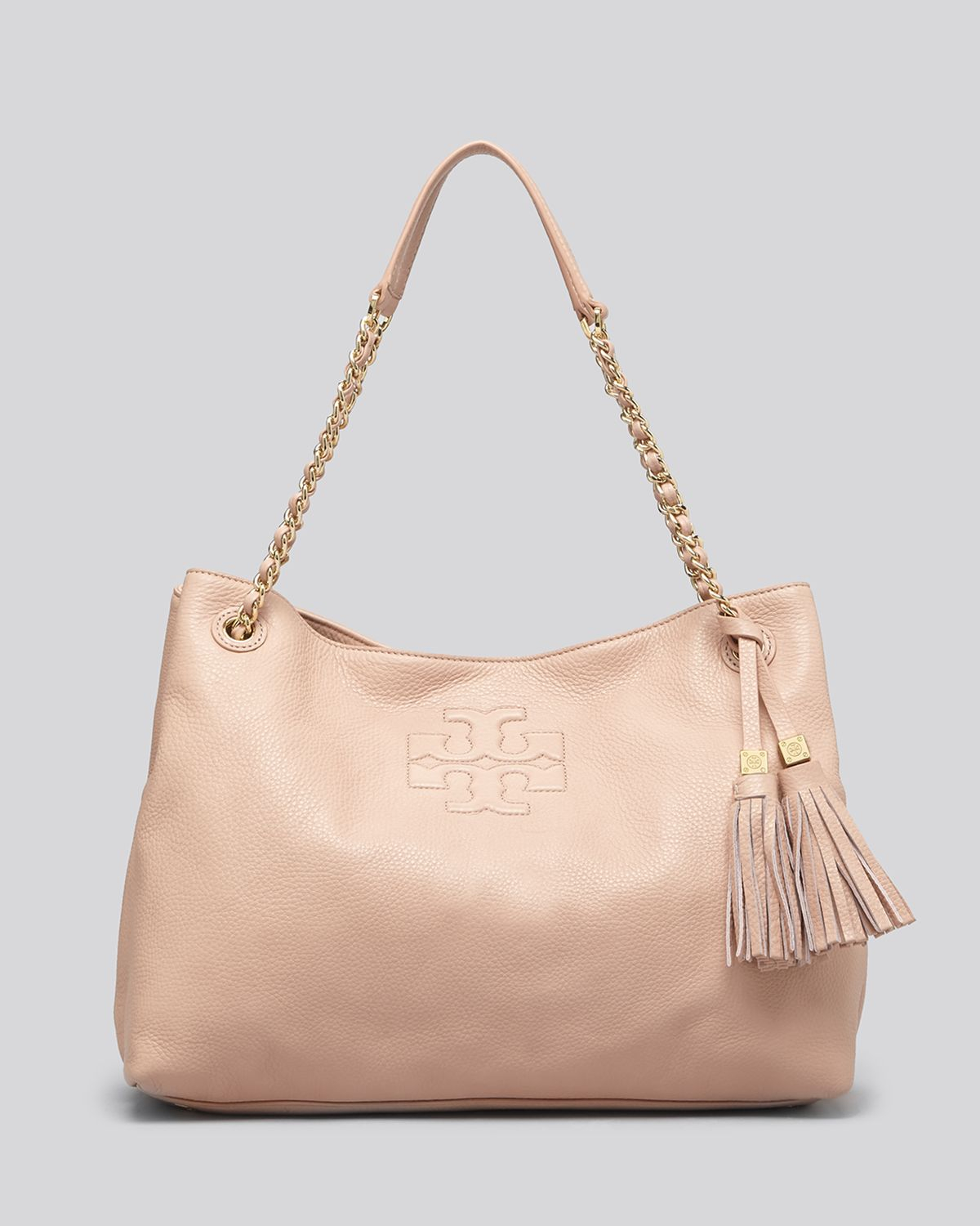 4a743e97719 Lyst - Tory Burch Tote - Thea Chain Shoulder Slouchy in Natural
