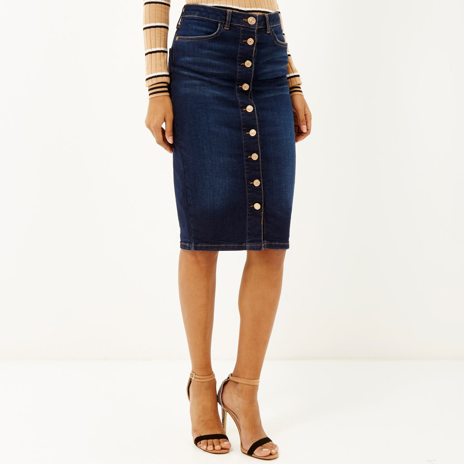 River Island Womens corset pencil denim skirt Free Shipping Low Shipping Fee Pay With Paypal Online 2018 Sale Online Clearance Looking For Choice jpBEs4rLQ