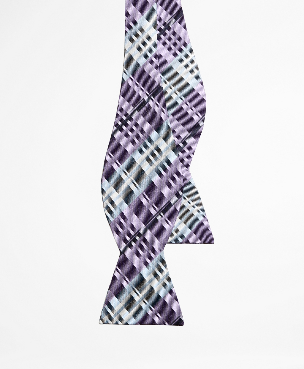 Lyst - Brooks Brothers Plaid Bow Tie in Purple for Men