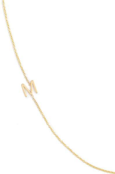 jcrew maya brennerr 14k gold asymmetrical letter necklace With maya brenner 14k gold asymmetrical letter necklace