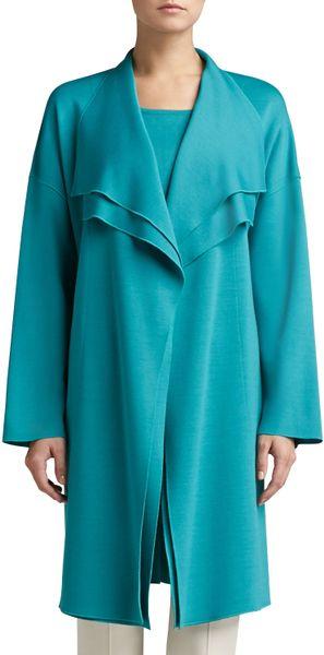 Burberry Brit Store A Milano : St john milano knit artisan jacket with draped lapel side