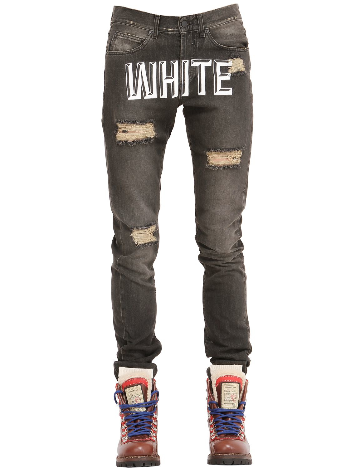 Off-White denim printed jeans Real Online WKNh4W2R