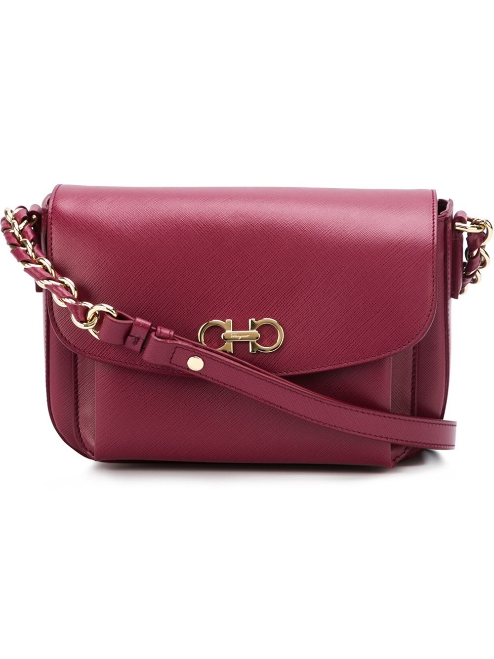 7b642a5800 Ferragamo  sandrine  Shoulder Bag in Pink - Lyst