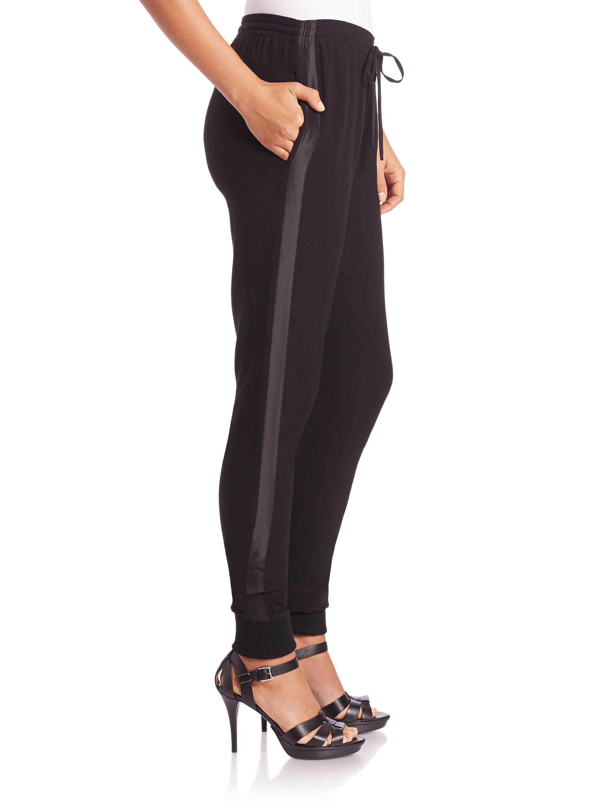 89b059039ad Lyst - Polo Ralph Lauren Satin Tuxedo Jogger Pants in Black