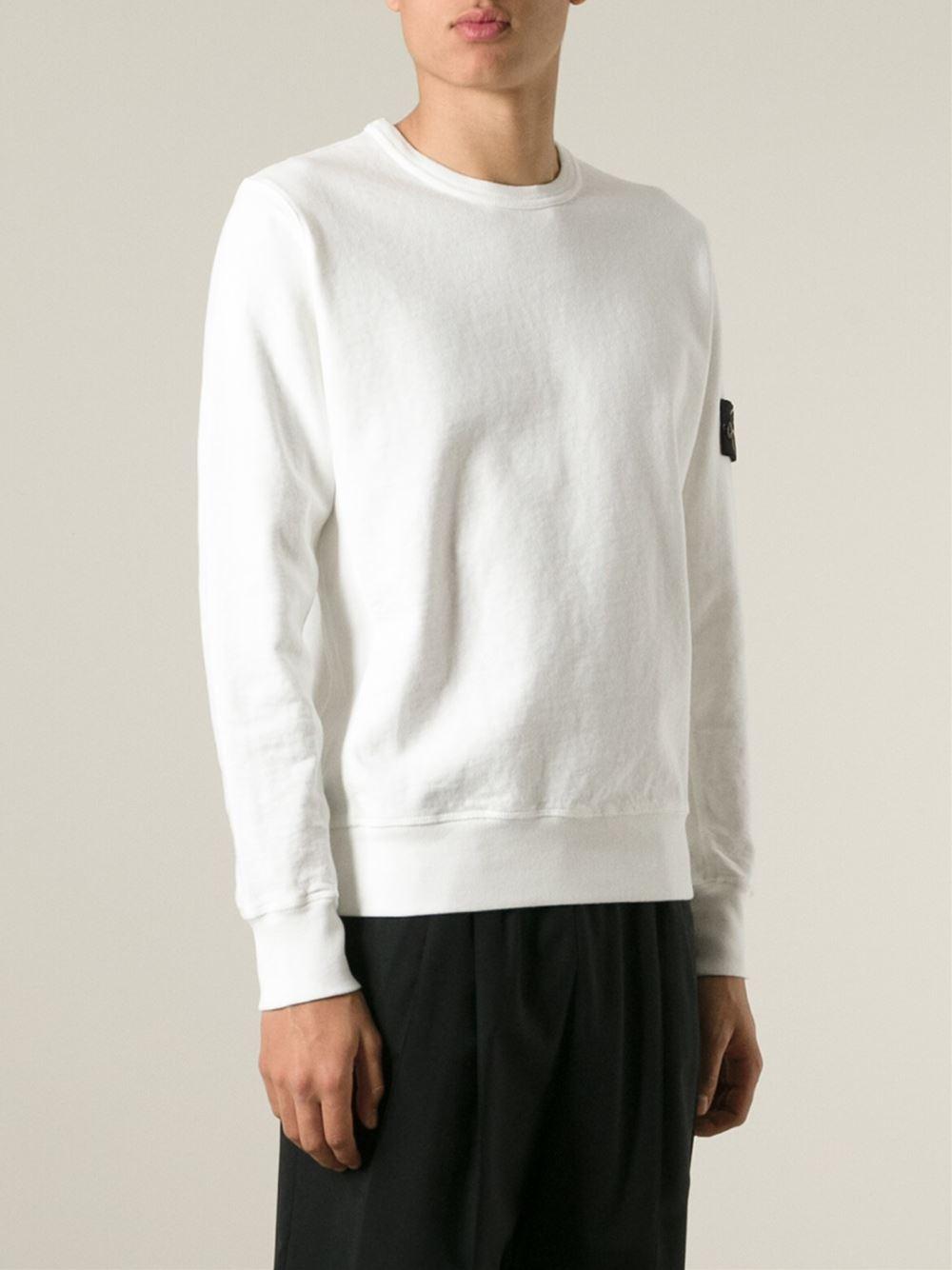 Stone island button sweater white dress