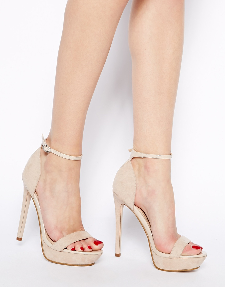 6a0781ad1fc Lyst - ASOS Heiress Heeled Sandals in Natural