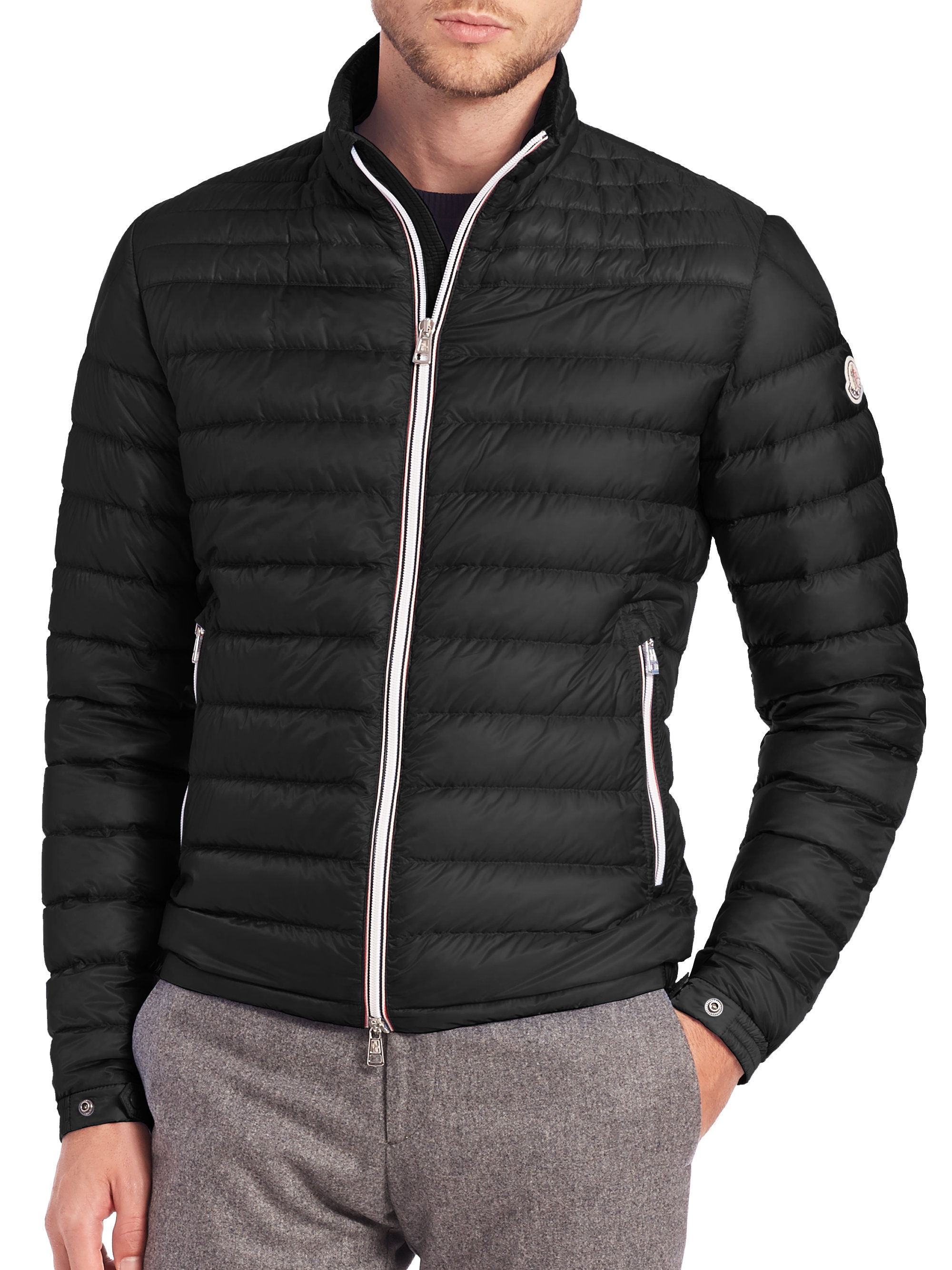 moncler daniel jacket in black for men lyst. Black Bedroom Furniture Sets. Home Design Ideas