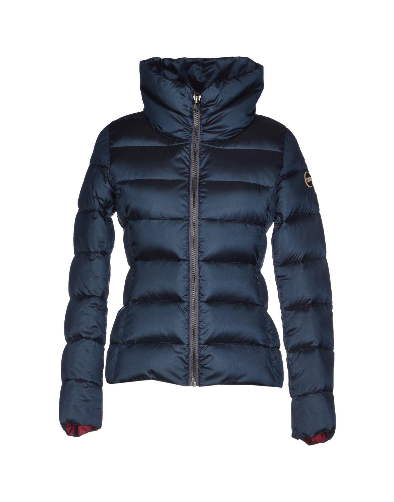 colmar originals down jacket in blue slate blue lyst. Black Bedroom Furniture Sets. Home Design Ideas