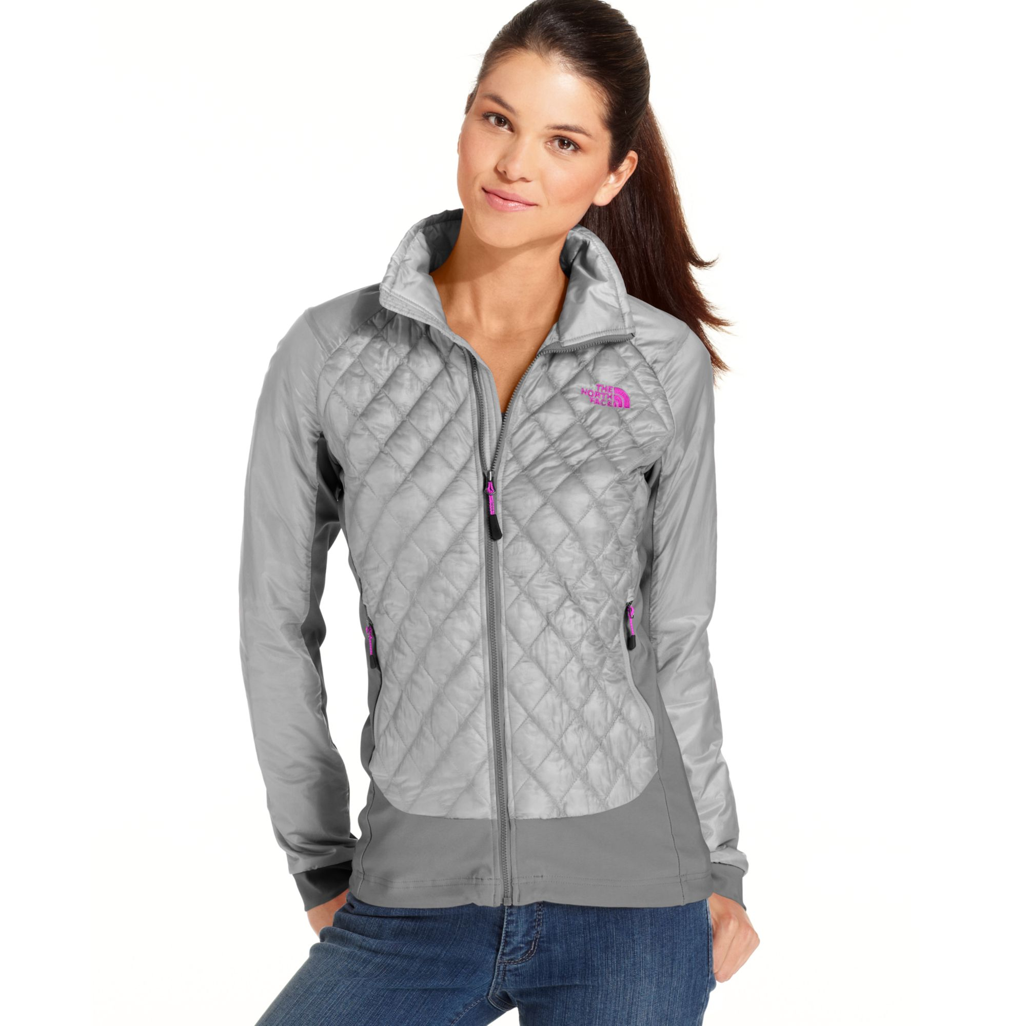 Lyst The North Face Thermoball Quilted Jacket In Gray