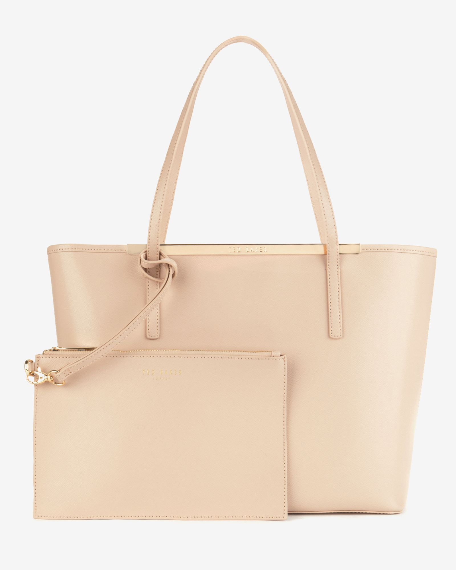 Ted baker Leather Shopper Bag in Natural | Lyst
