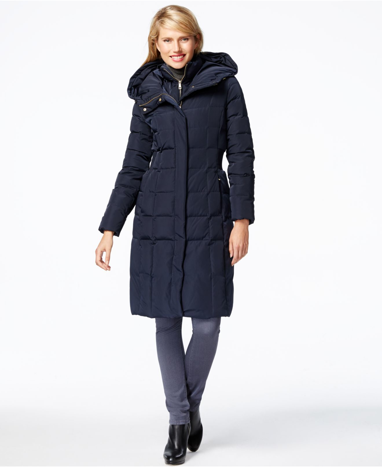London Fog Women S Black Quilted Down Coat