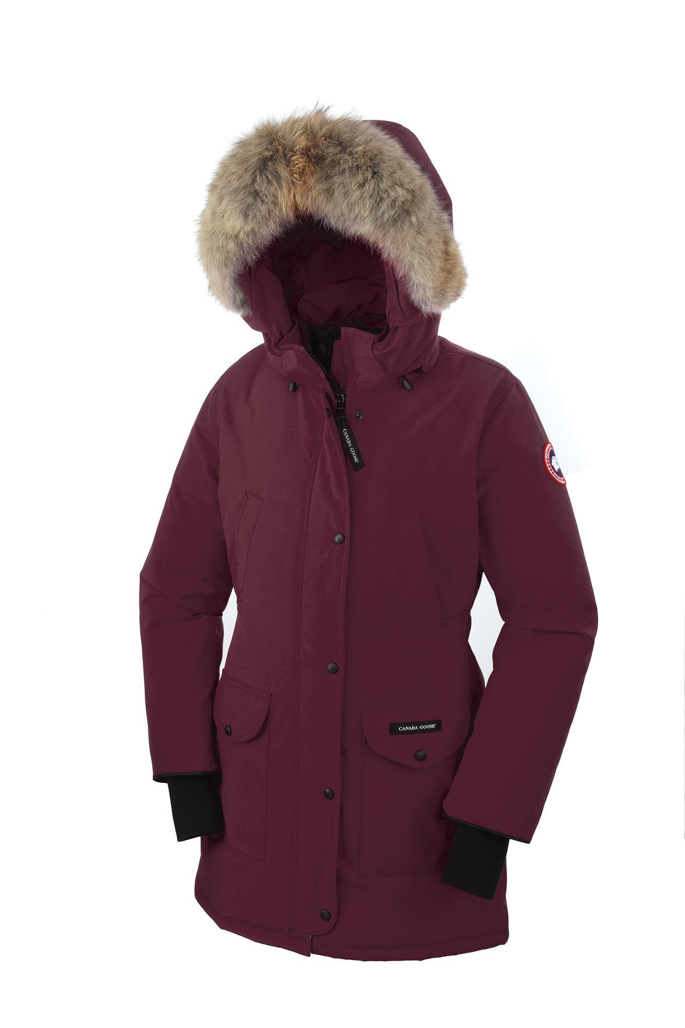 Canada Goose coats sale shop - Canada goose Trillium Parka in Red (Bordeaux) | Lyst