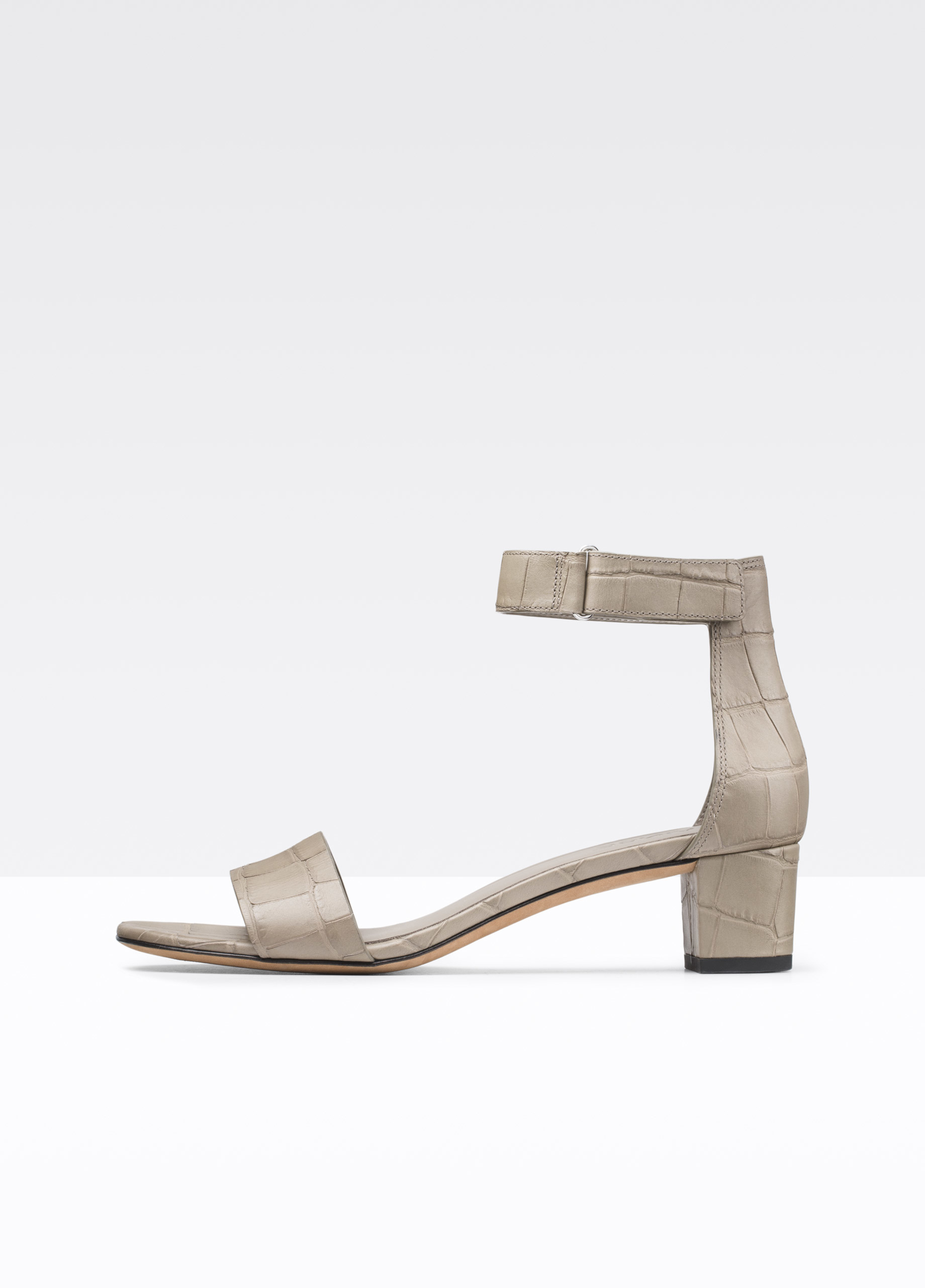 Vince Rita Croc Printed Leather City Sandal In Natural Lyst
