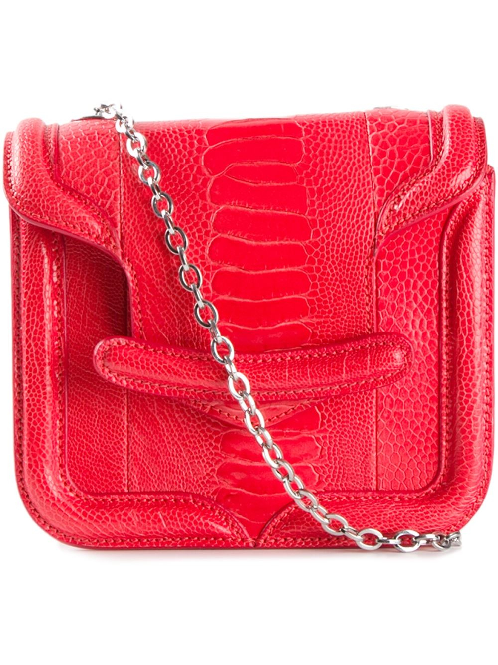 Alexander mcqueen Mini 'Heroine' Shoulder Bag in Red | Lyst