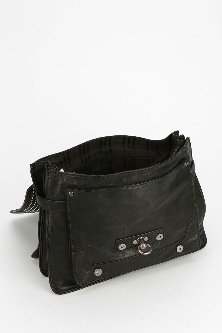 1b6832b7ebbc Lyst - Frye Cameron Studded Leather Satchel Bag in Black