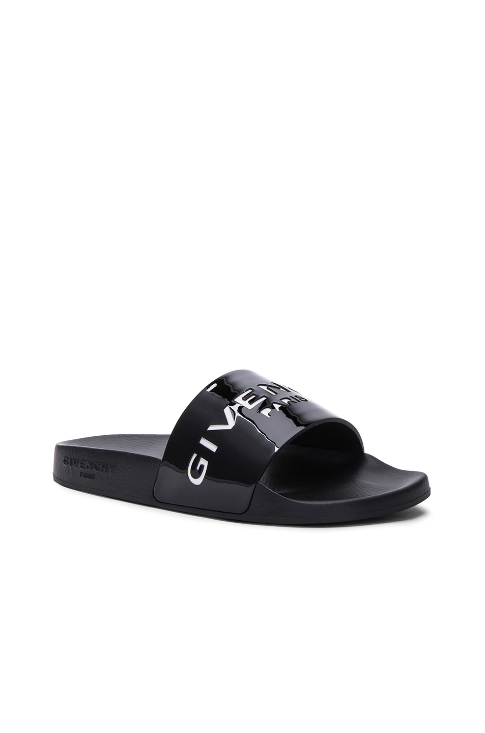 Givenchy Leather Slide Sandals sale big discount clearance with credit card great deals for sale Xbw55