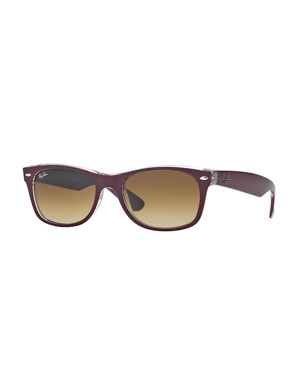 ray ban 55mm new wayfarer sunglasses in purple lyst. Black Bedroom Furniture Sets. Home Design Ideas