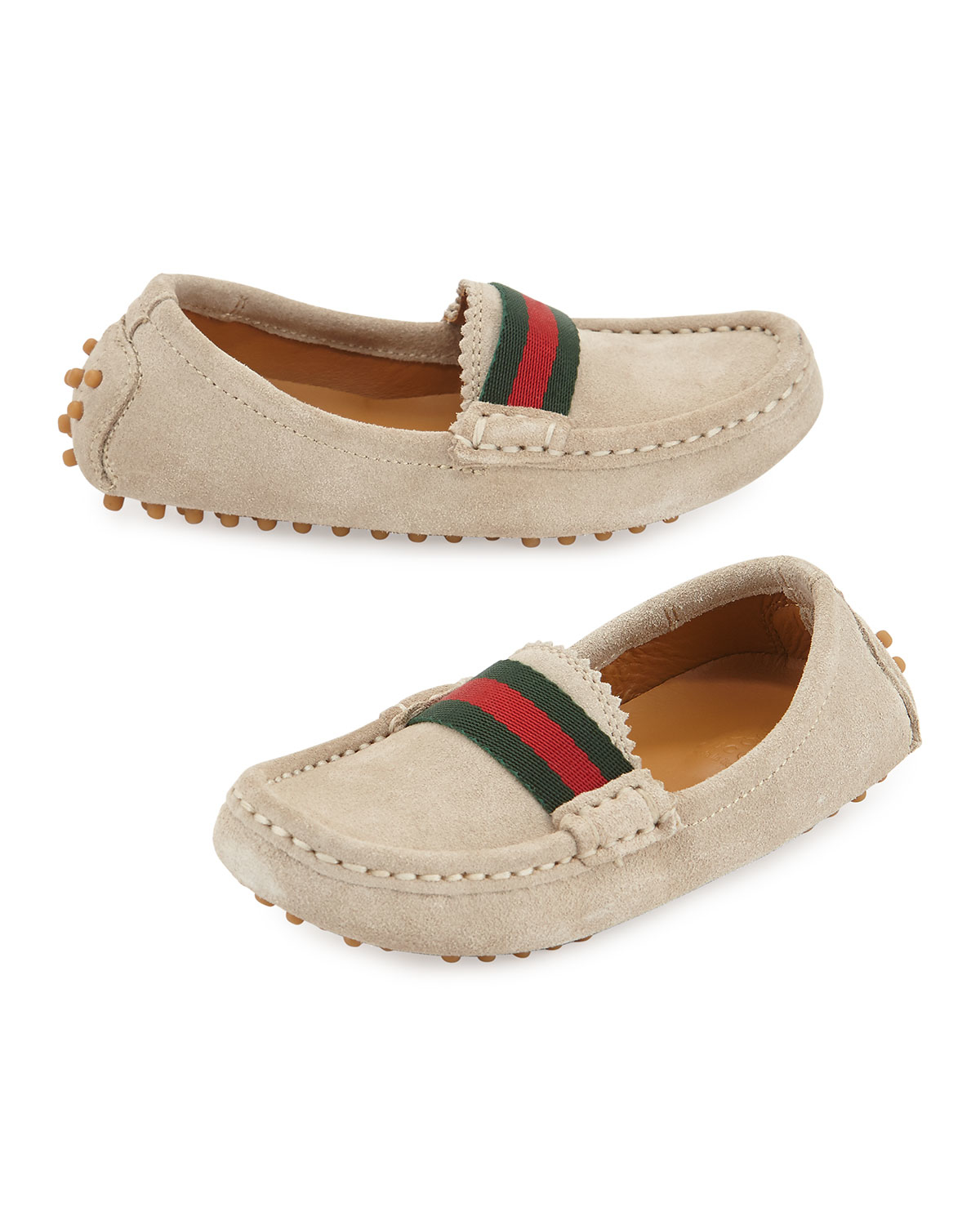 7adcddc7664 Lyst - Gucci Driving Dandy Suede Moccasin Driver in Natural