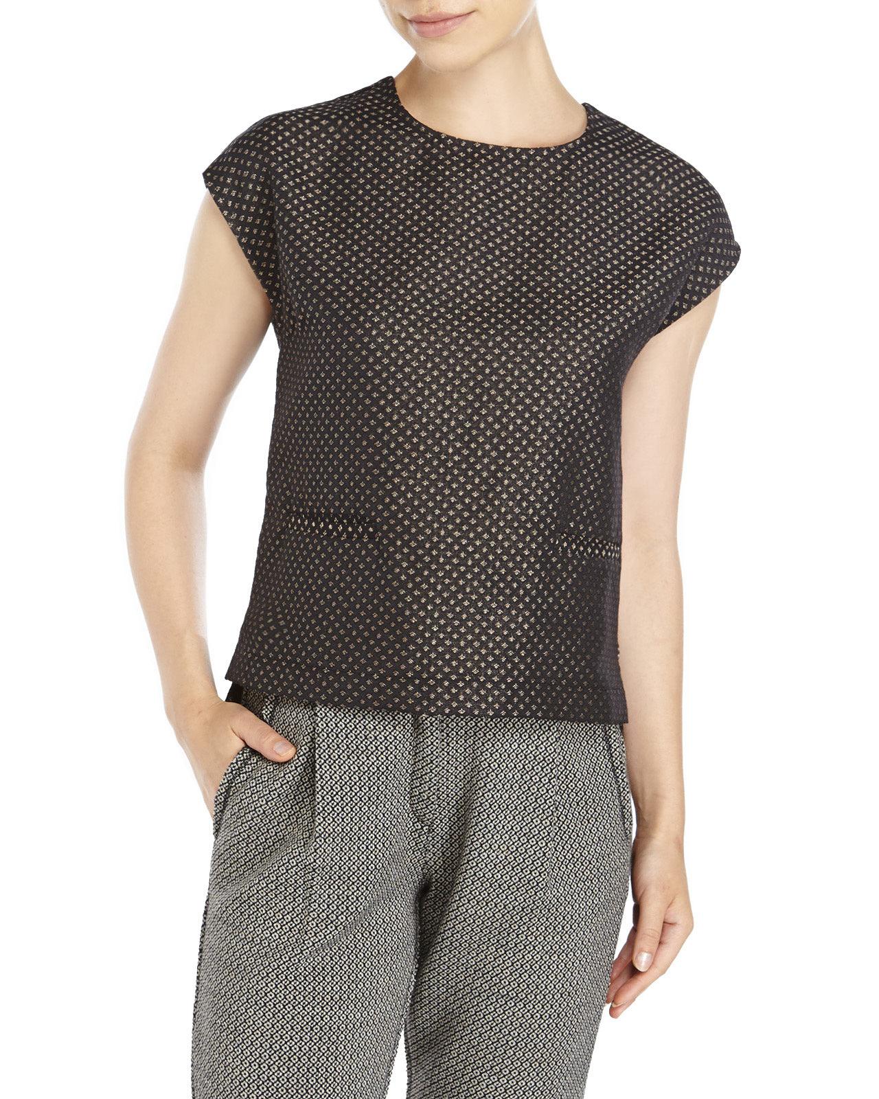 Lyst century 21 ottod 39 ame diamond print blouse in black for Century 21 dress shirts