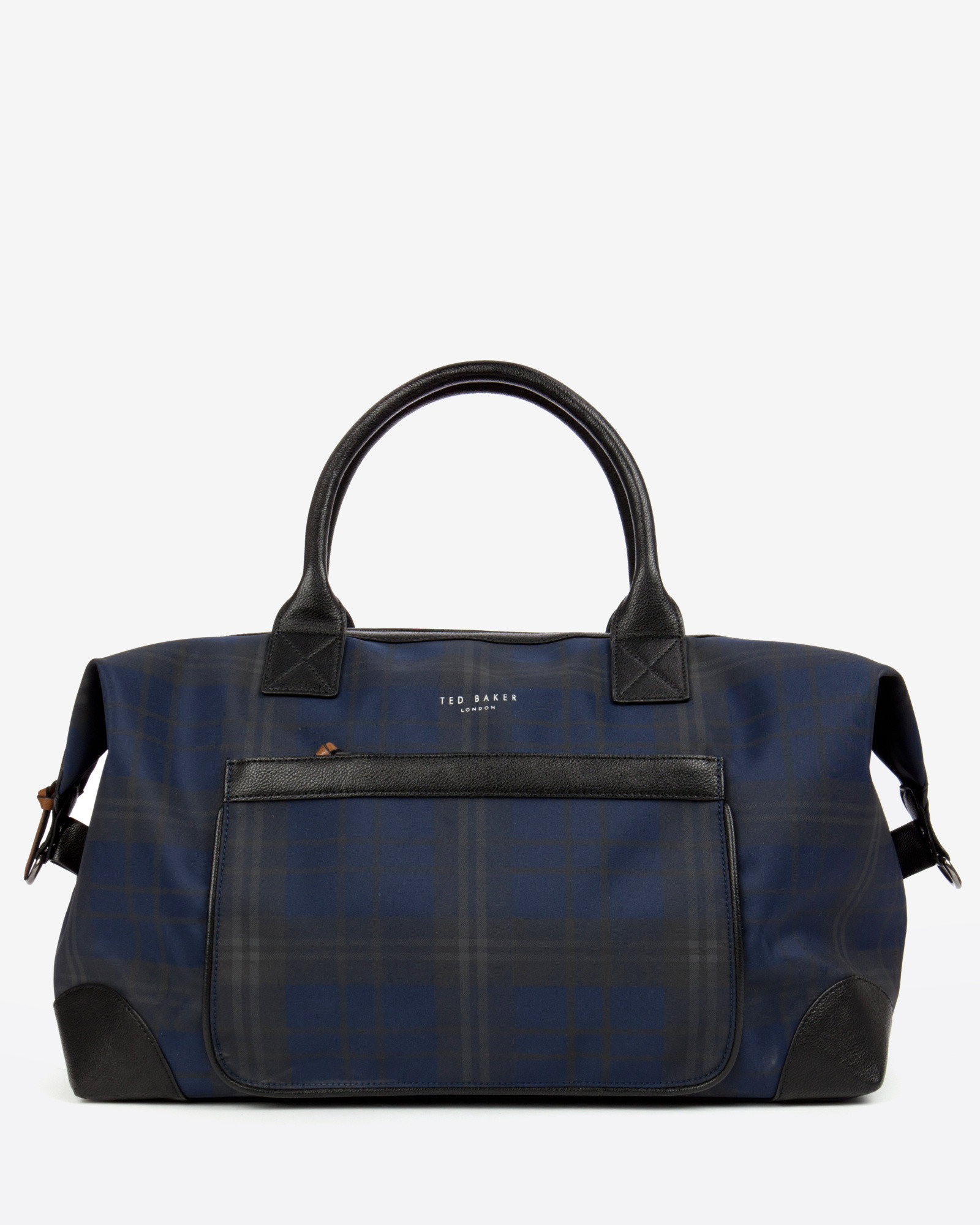ted baker checked holdall bag in blue for lyst