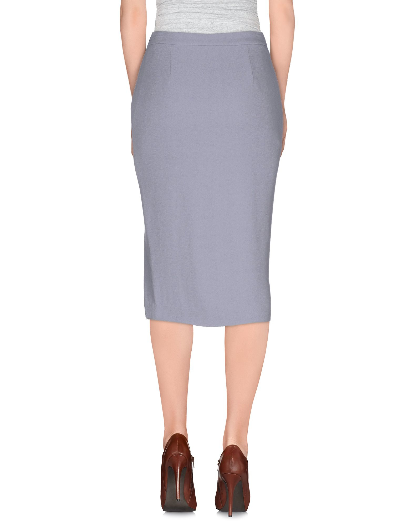 a l c knee length skirt in blue lyst