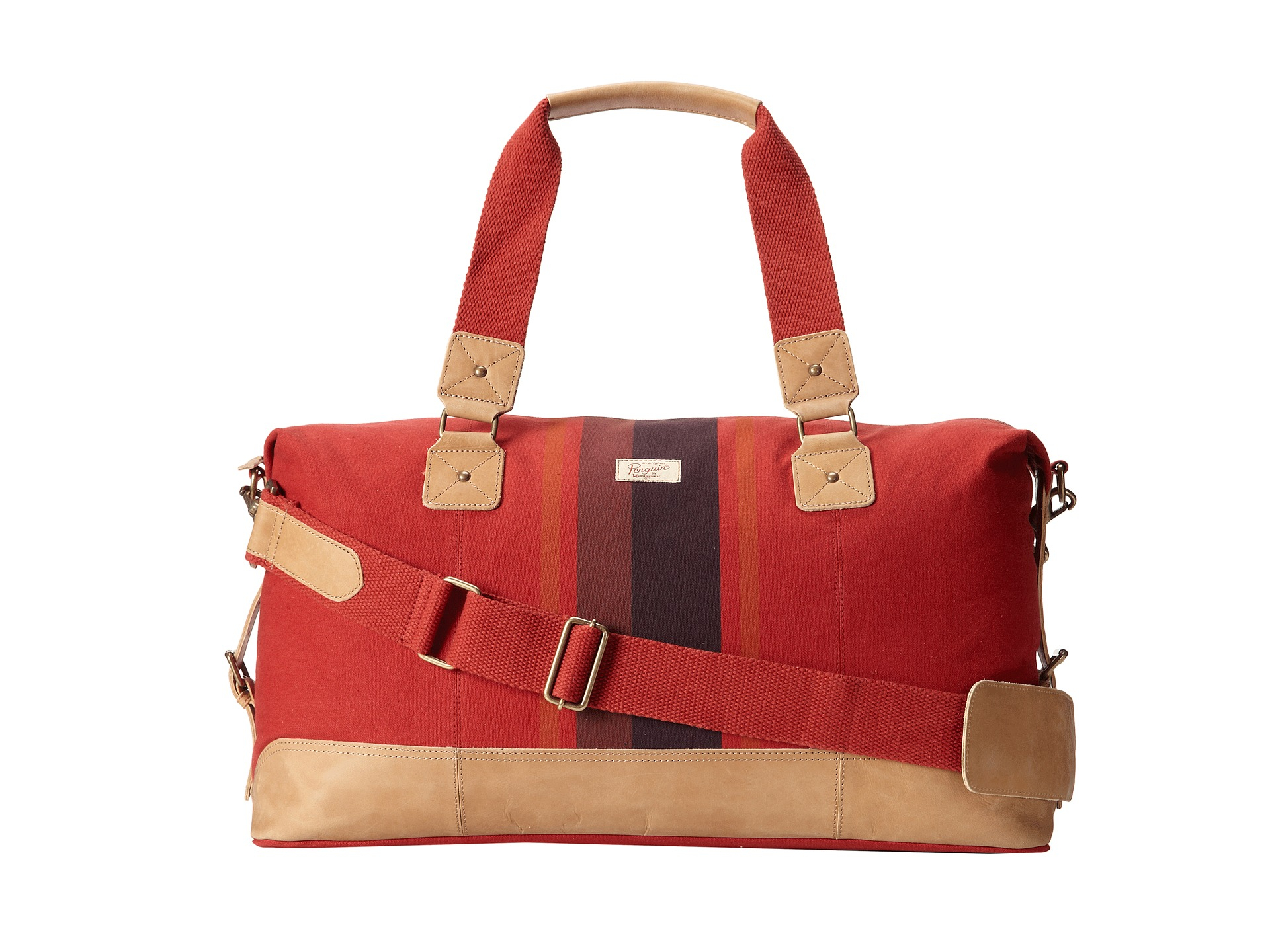 Original penguin Canvas Weekend Bag in Red for Men | Lyst