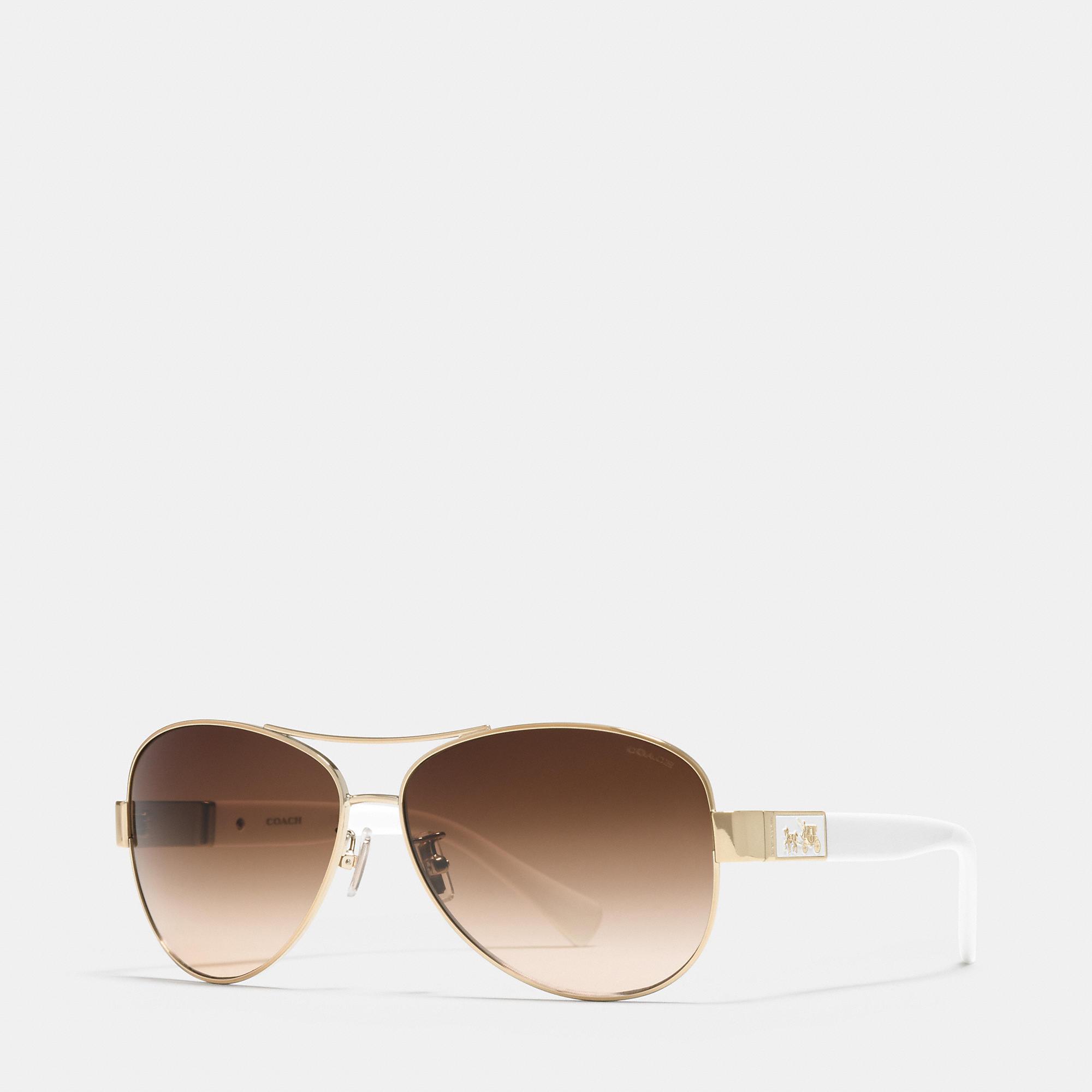 4f30909069 ... gold red brown gradient 59 13 135 1f25f a6ef2  reduced lyst coach  christina sunglasses in metallic 0ecf4 45e4f