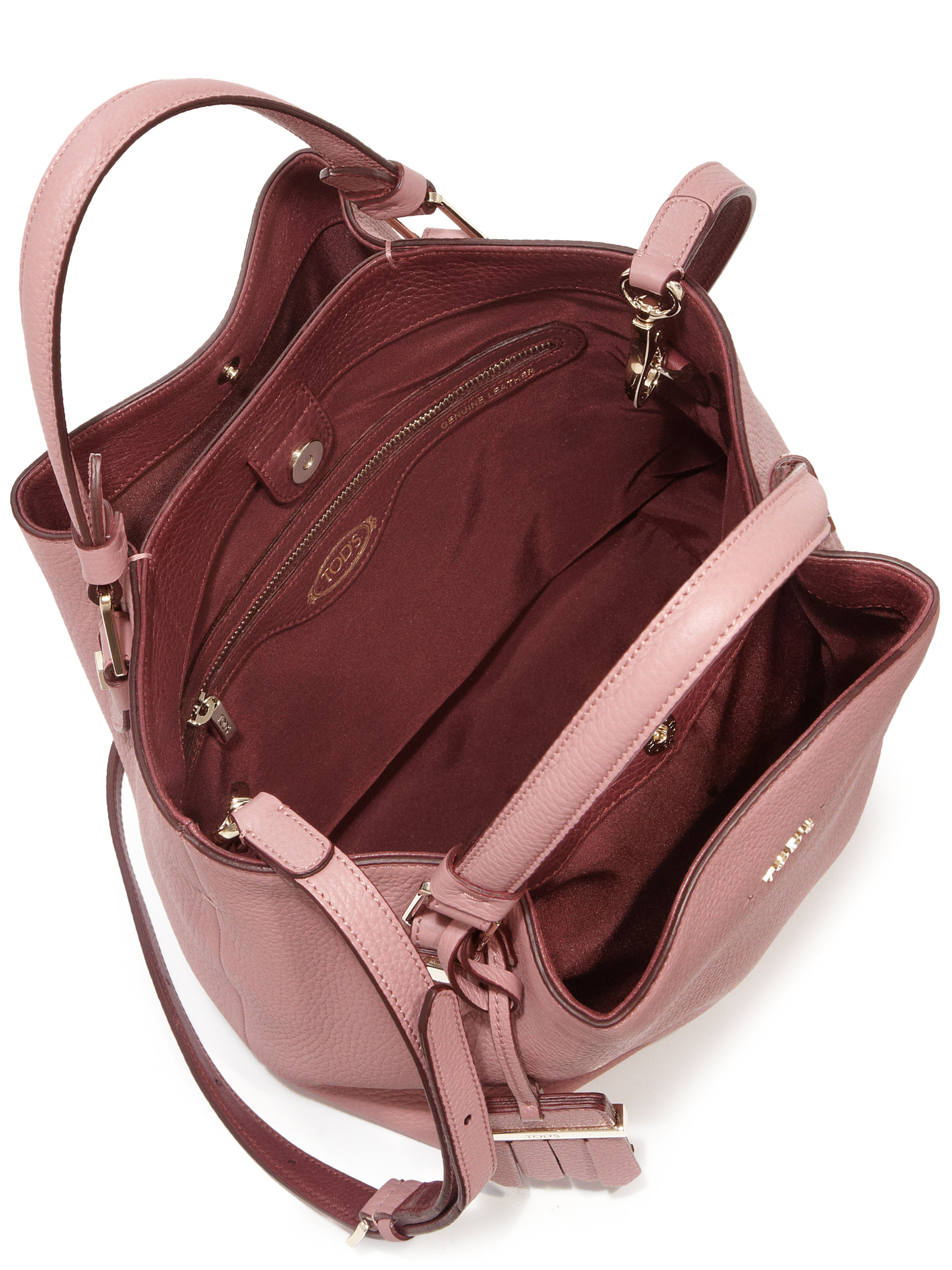 f95e9d911d Tod's Flower Mini Tote in Pink - Lyst