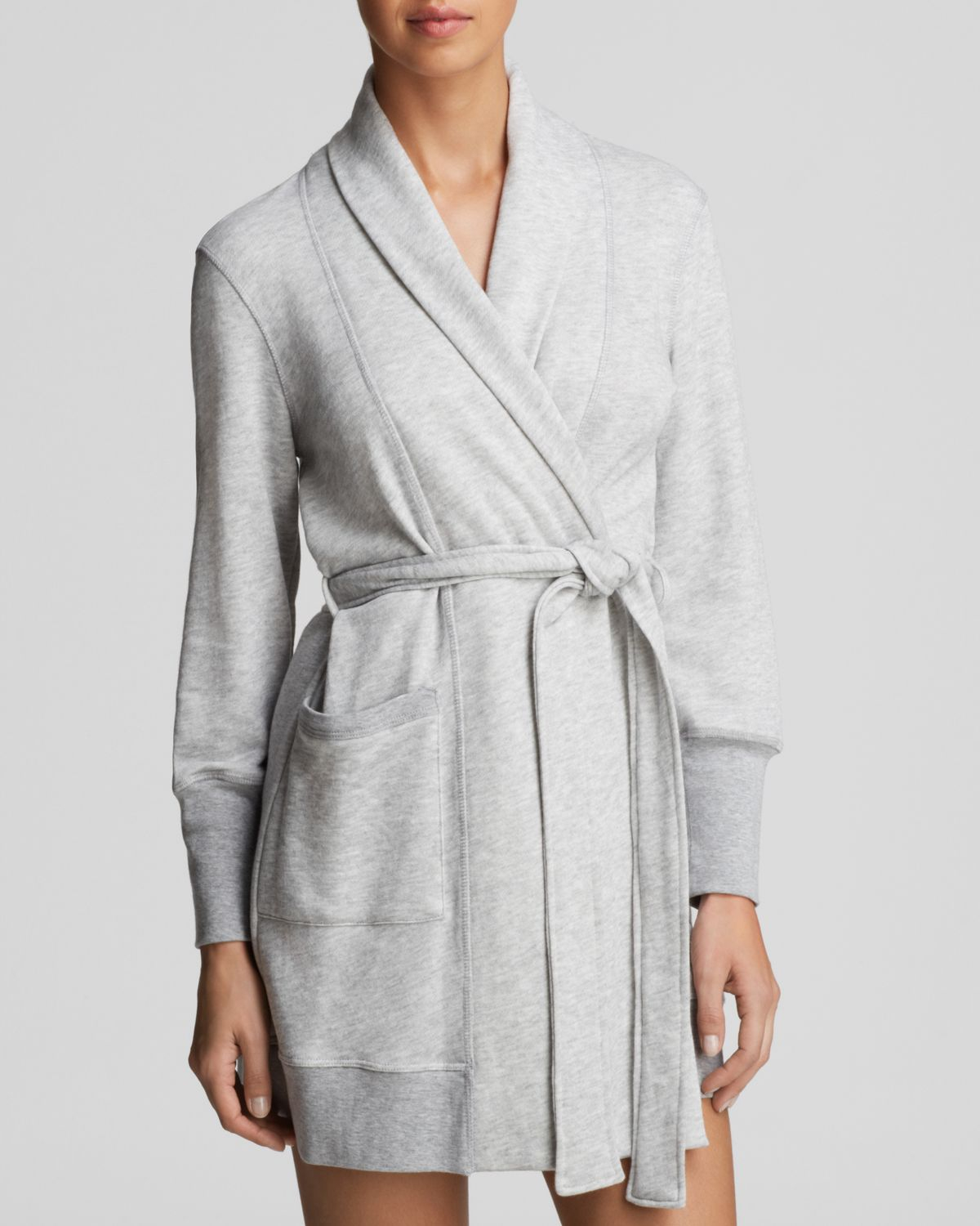 Lyst - Jane   Bleecker New York French Terry Robe in Gray 22d795f10