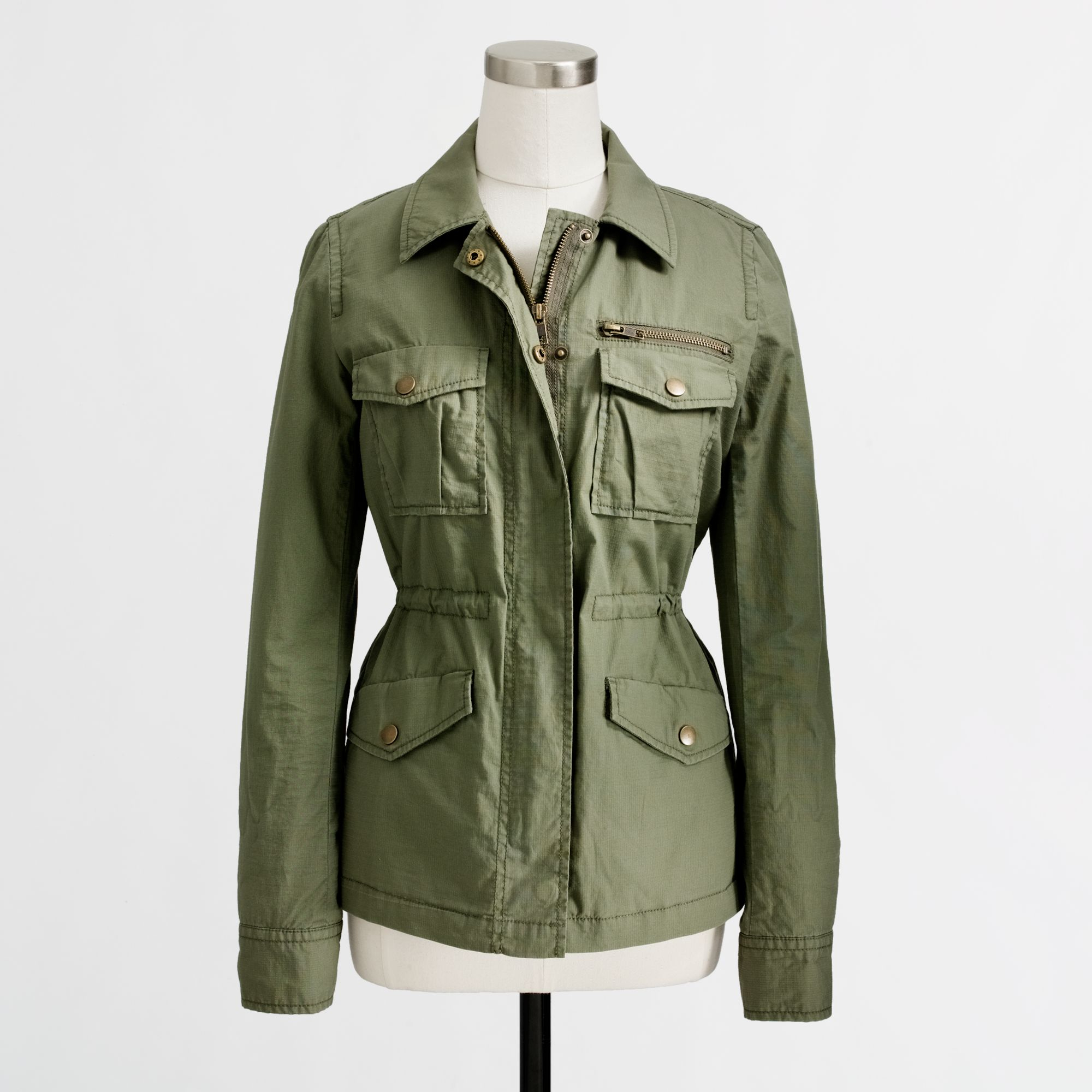 J.crew Factory Ripstop Utility Jacket in Green | Lyst