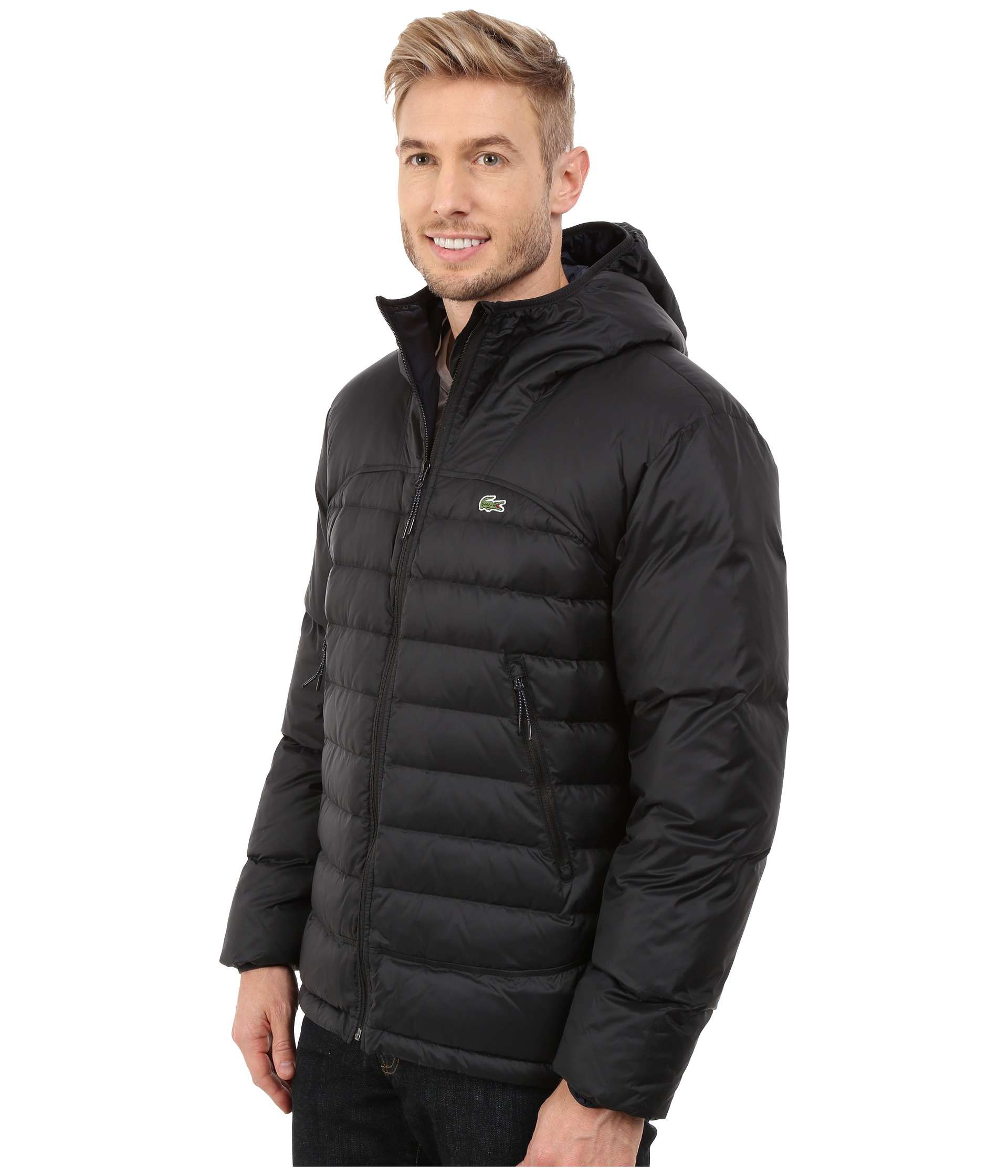 Lyst Lacoste Light Weight Packable Down Jacket In Black