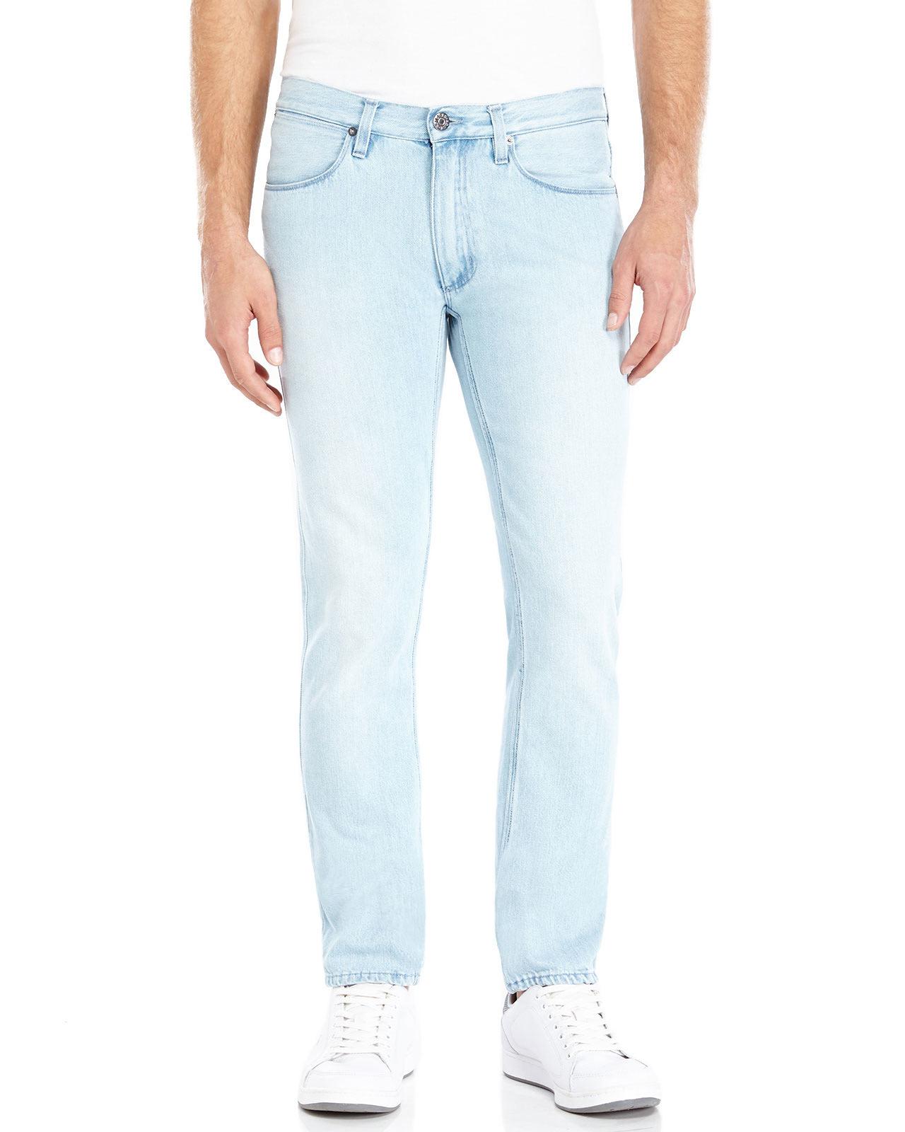 0fcf7eac728 Acne Studios Light Wash Max Flash Slim Fit Jeans in Blue for Men - Lyst