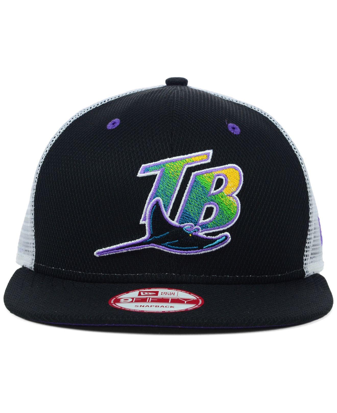 pretty nice 888b5 9e11d Lyst - KTZ Tampa Bay Rays Mlb Diamond Mesh 9Fifty Snapback Cap in ...