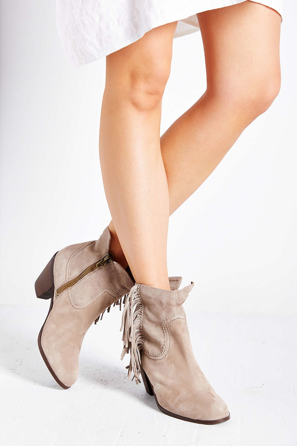 57398d56c Lyst - Sam Edelman Louie Fringe Ankle Boot in Natural
