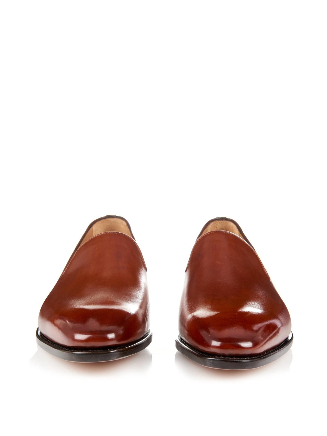 Ferragamo Naldo Tramezza Leather Loafers in Brown for Men - Lyst