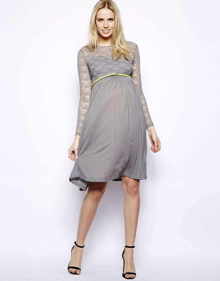 Gray maternity dress mansene ferele gray lace maternity dress ombrellifo Gallery