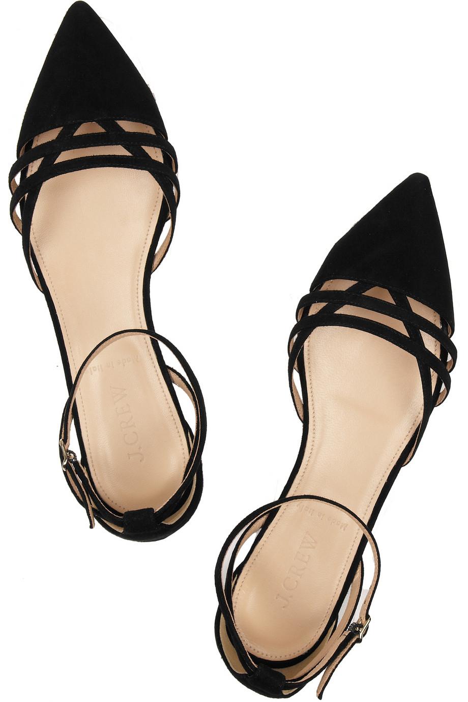 Large Ladies Black Flat Shoes