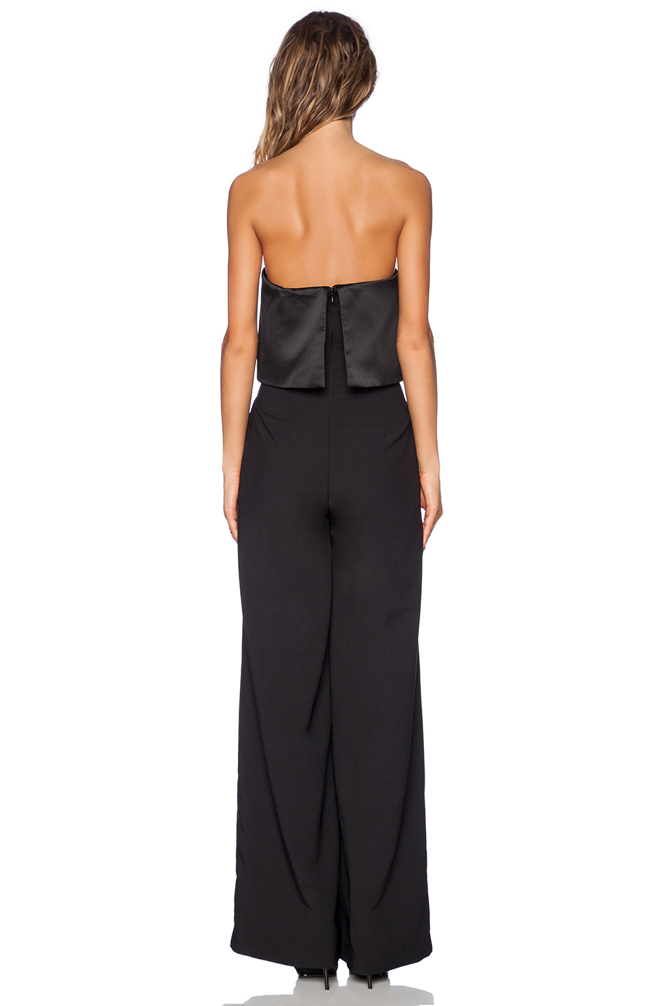 0306bcb14575 Lyst - Solace London Tailor Strapless Jumpsuit in Black