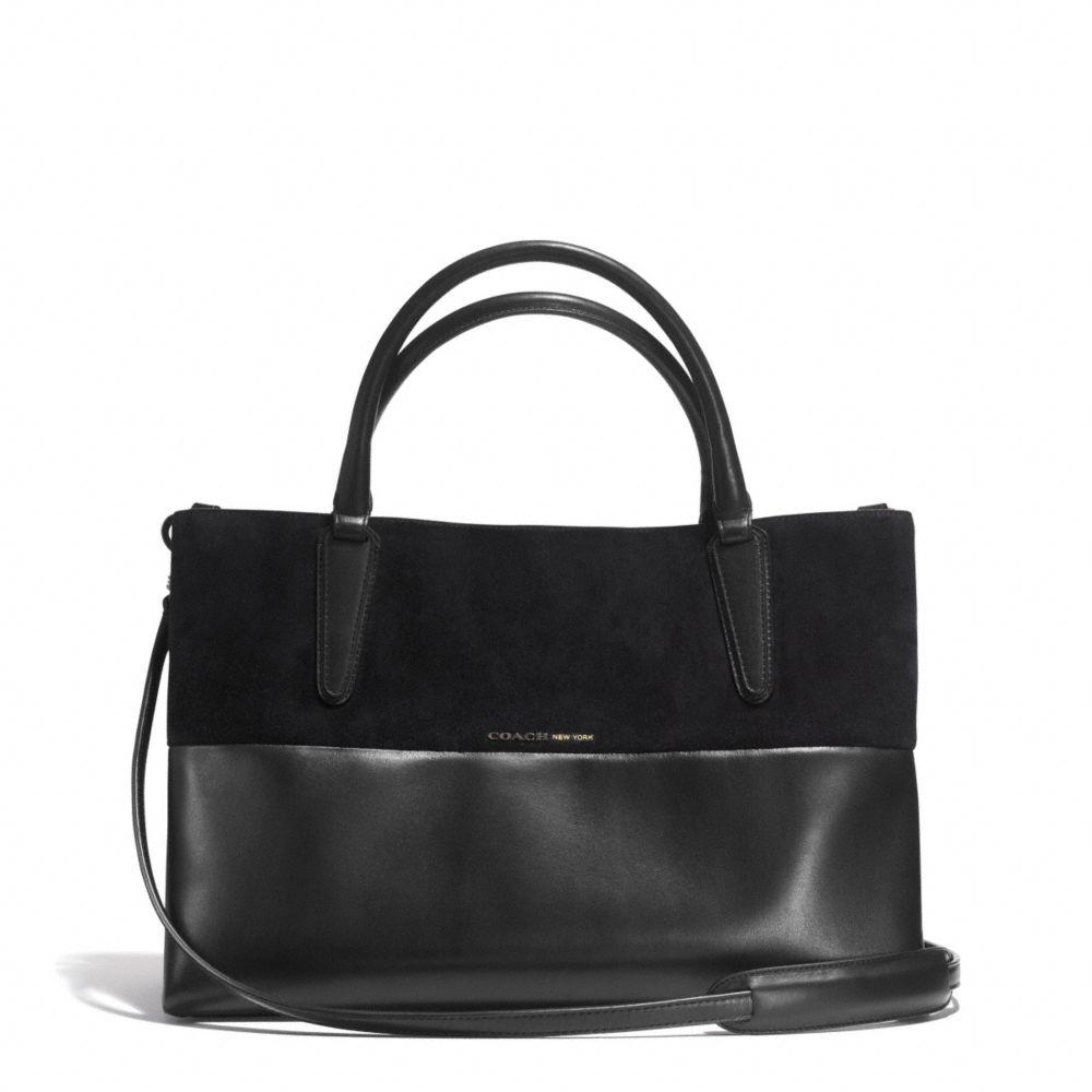 coach soft borough bag in retro glove leather and