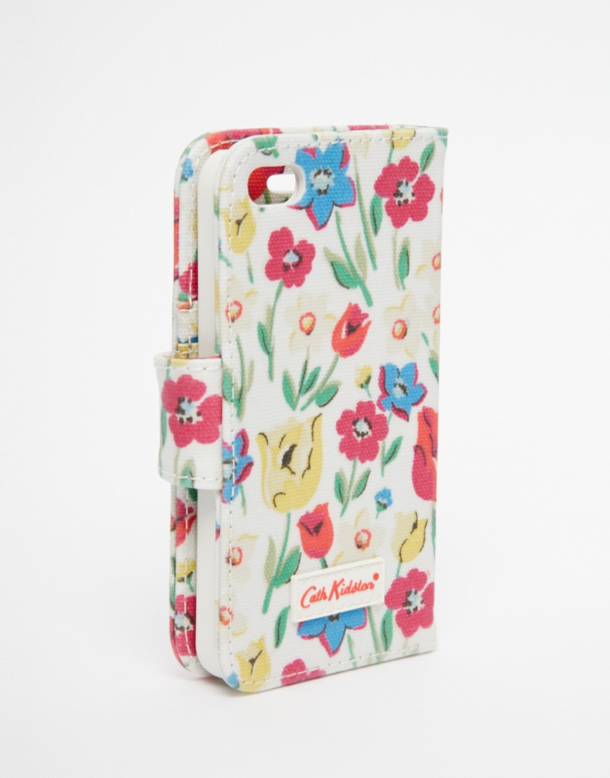 Lyst - Cath Kidston Paradise Fields Iphone 5 Case With Card Holder ... be494719a2