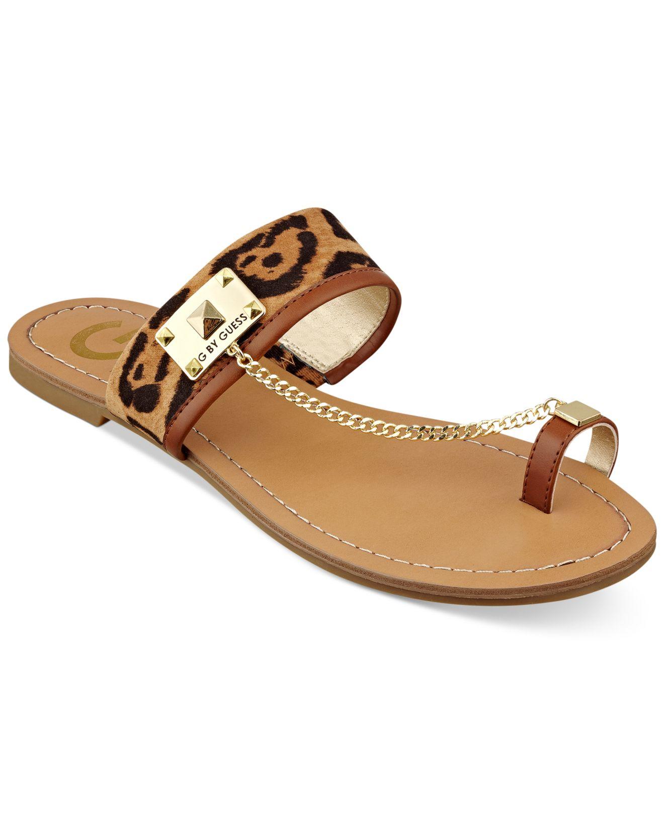 6d8c070a43d Lyst - G by Guess Women S Lucia Toe Ring Flat Sandals