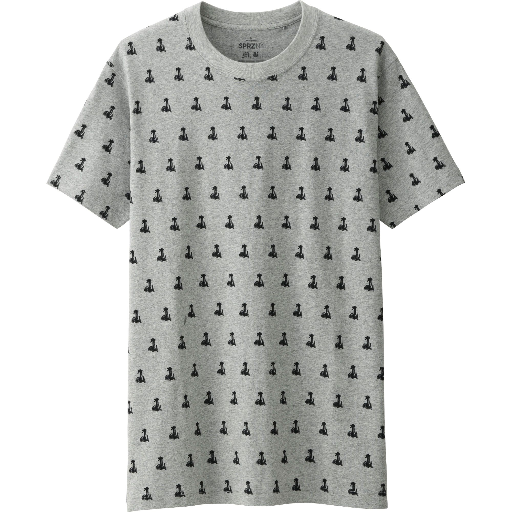 Uniqlo men sprz ny graphic t shirt marcel broodthaers in for Uniqlo moma t shirt