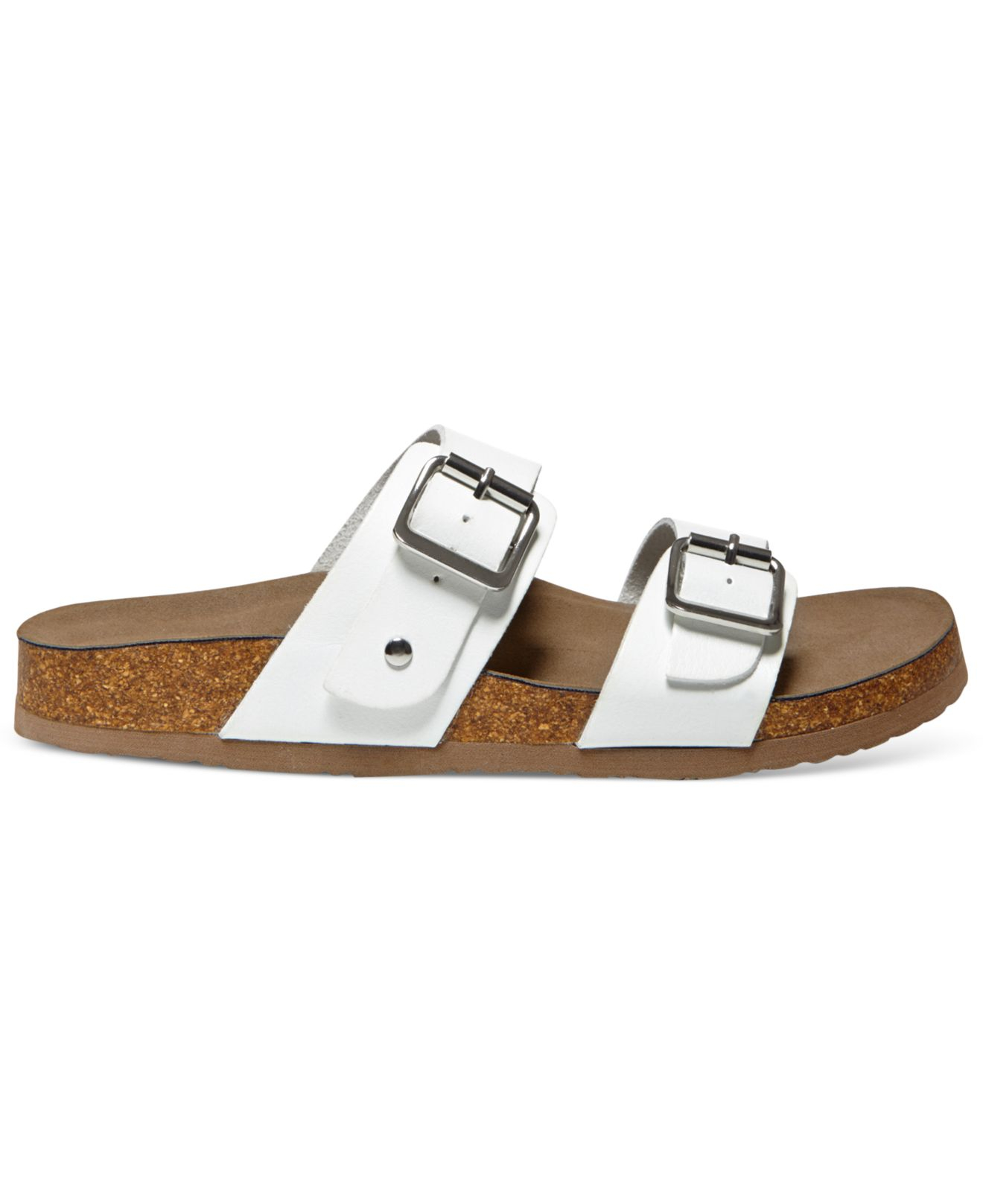 Lyst Madden Girl Brando Faux Leather Sandals In White