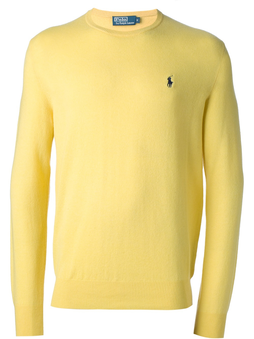Lyst Polo Ralph Lauren Crew Neck Sweater In Yellow For Men