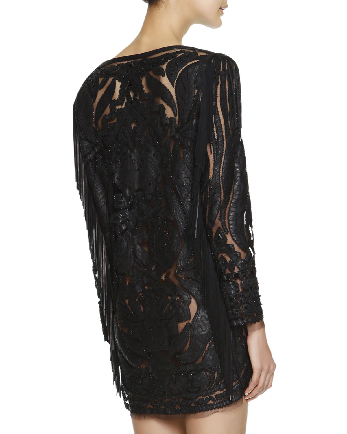 Pucci Black Lace Evening Gown