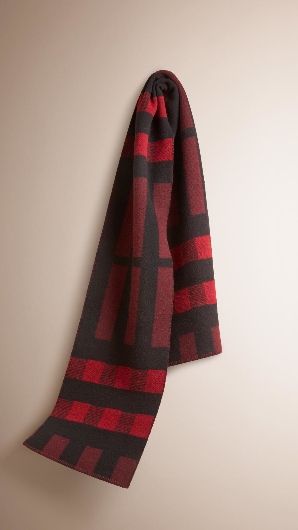 Lyst Burberry Check Wool Cashmere Blanket Scarf In Purple