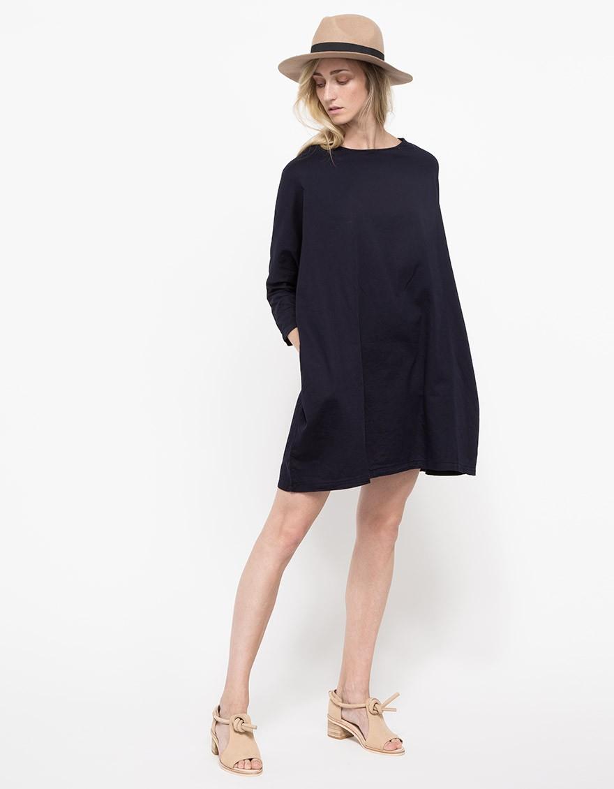 Black crane dress