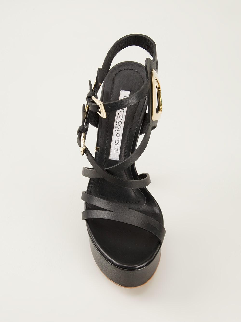 Gianmarco Lorenzi High Heel Sandals In Black Lyst