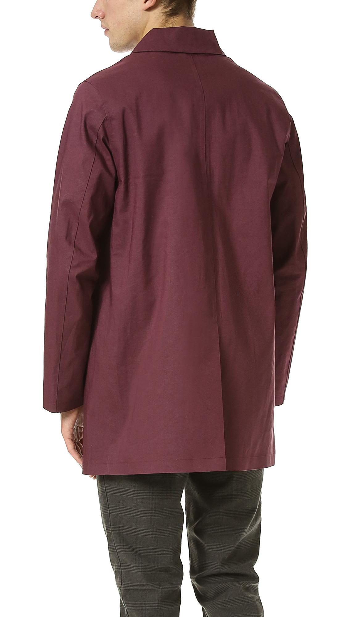 Mackintosh Dunoon Bonded Raincoat in Purple for Men | Lyst